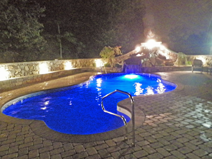 Inground pools at night Light Up Inground Installation By Manuel Son Pool Service Diamond Pools Spas Backyard Oasis Above Ground Inground Pools In Swansea Maabove