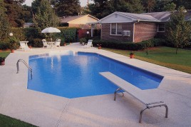 Inground pool pricing above ground inground pools in for Grecian pool dimensions